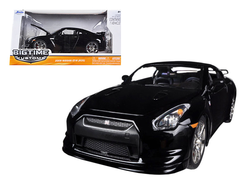 2009 Nissan GT-R R35 Black 1/24 Diecast Car Model Jada 96811