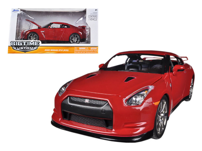 2009 Nissan GT-R R35 Red 1/24 Diecast Car Model Jada 96811