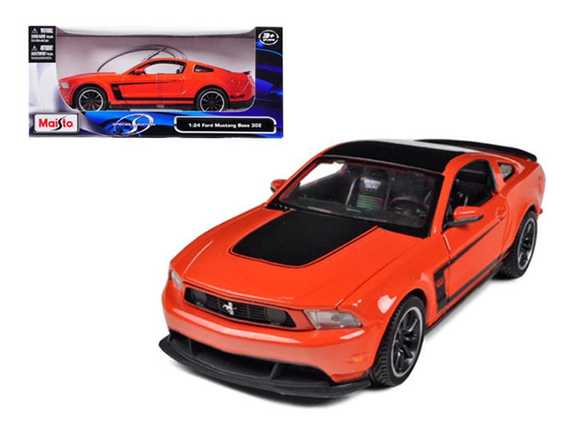 2011 Ford Mustang Boss 302 Orange 1/24 Diecast Model Car Maisto 31269