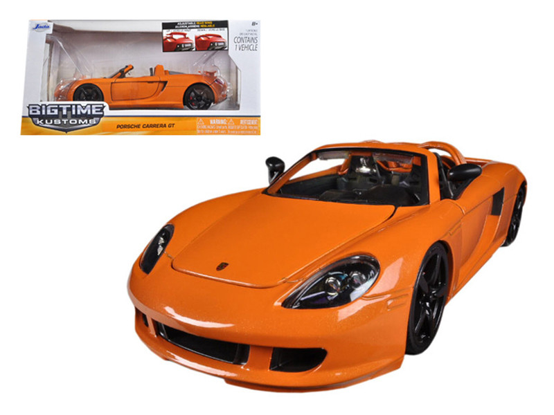 2005 Porsche Carrera GT Orange 1/24 Diecast Car Model Jada 96955