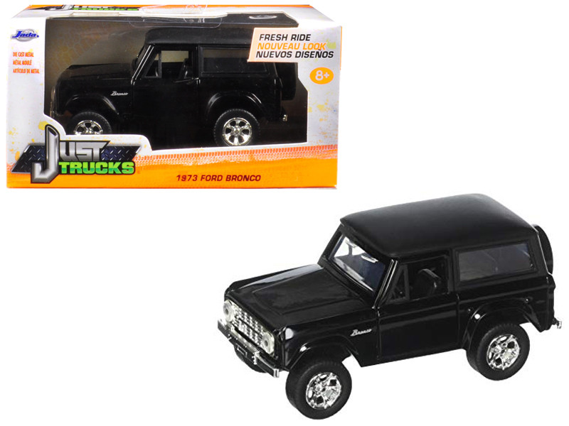 1973 Ford Bronco Black 1/32 Diecast Model Car Jada 97050
