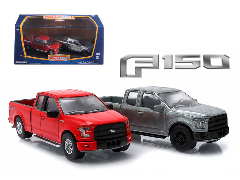 2015 Ford F-150 Pickup Trucks Hobby Only Exclusive 2 Cars Set 1/64 Diecast Models Greenlight 29828