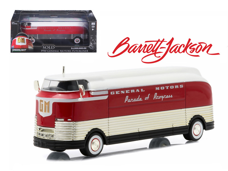 "1950 General Motors Futurliner ""Parade of Progress"" #11 March of Tools 2015 Barrett Jackson Edition Hobby Exclusive 1/64 Diecast Model Greenlight 29843"