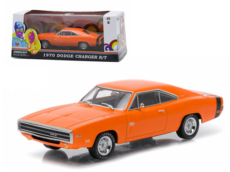 1970 Dodge Charger R/T Hemi Orange Greenlight Exclusive 1/43 Diecast Model Car Greenlight 86302