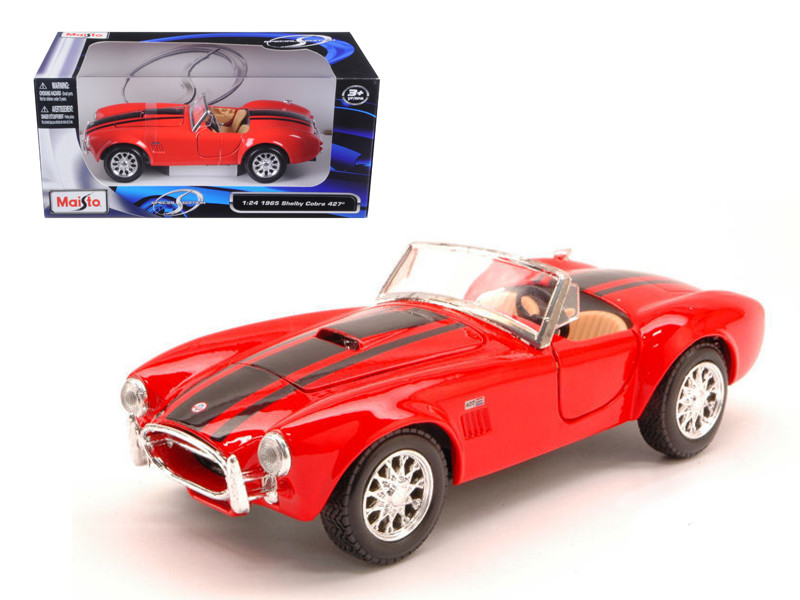1965 Shelby Cobra 427 Red 1/24 Diecast Model Car Maisto 31276