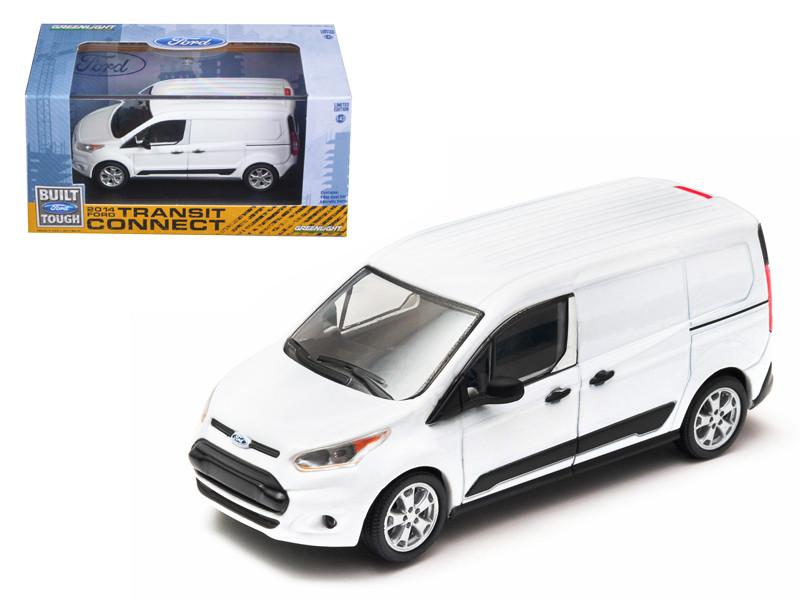 2014 Ford Transit Connect V408 Van White 1/43 Diecast Model Car Greenlight 86044