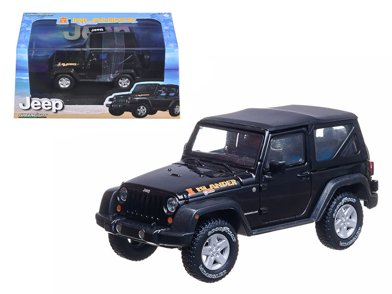 2010 Jeep Wrangler Islander Edition Black 1/43 Diecast Car Model Greenlight 86048