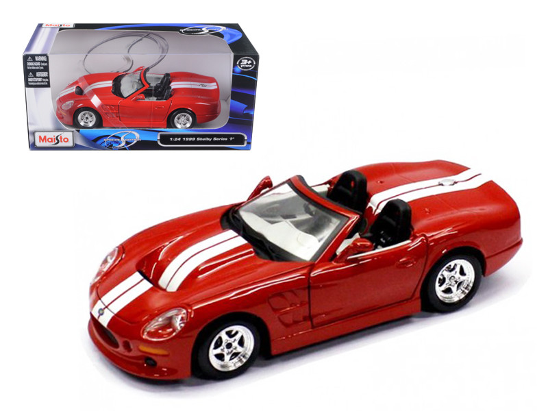 1999 Shelby Series 1 Red 1/24 Diecast Model Car Maisto 31277