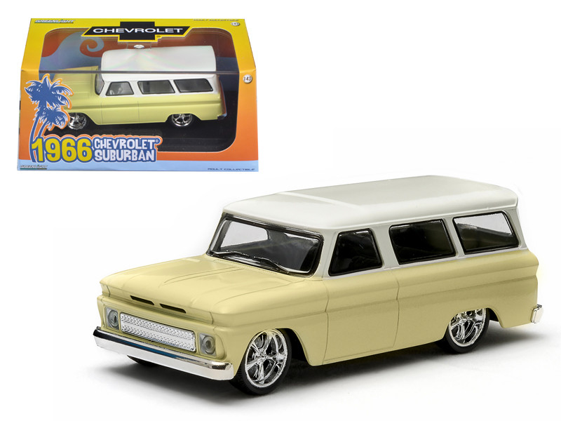 1966 Chevrolet Suburban Yellow 1/43 Diecast Car Model Greenlight 86058
