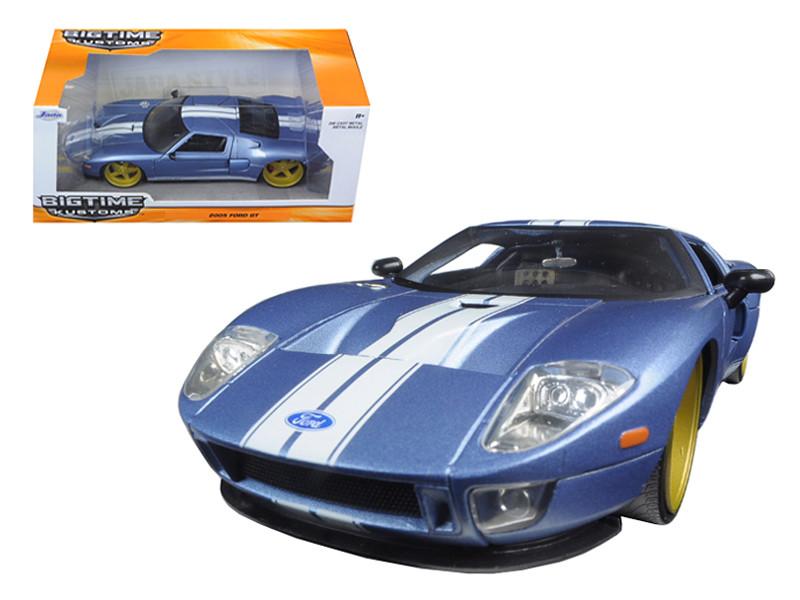 2005 Ford GT Blue 1/24 Diecast Model Car Jada 97366