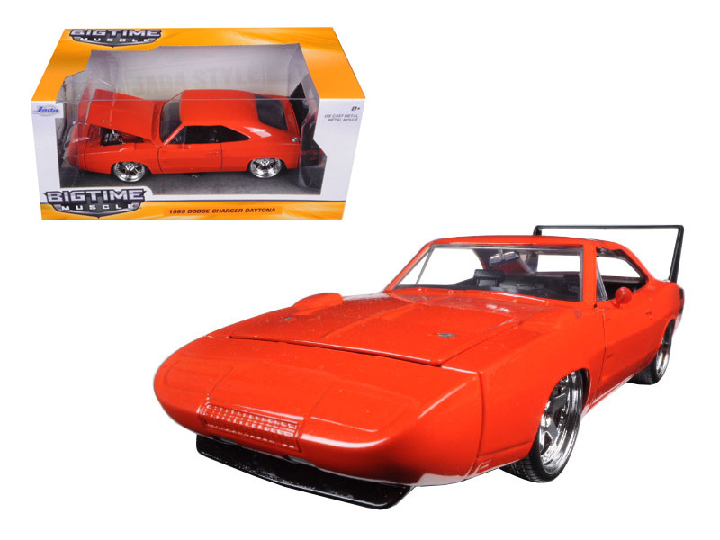 1969 Dodge Charger Daytona Orange 1/24 Diecast Model Car Jada 97682