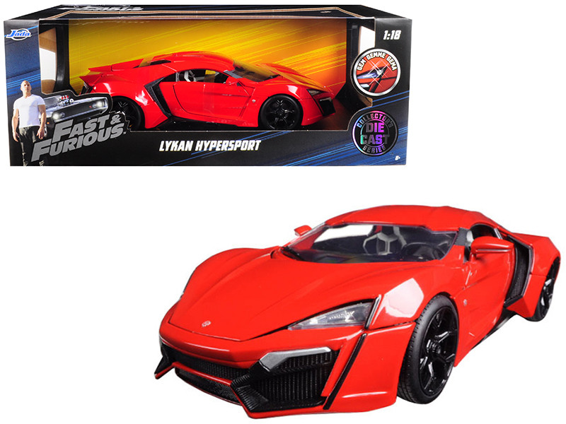 "Lykan Hypersport Red ""Fast & Furious 7"" Movie 1/18 Diecast Model Car"