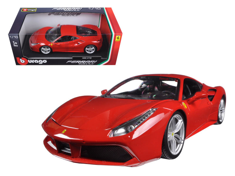 Ferrari 488 GTB Red 1/18 Diecast Model Car Bburago 16008