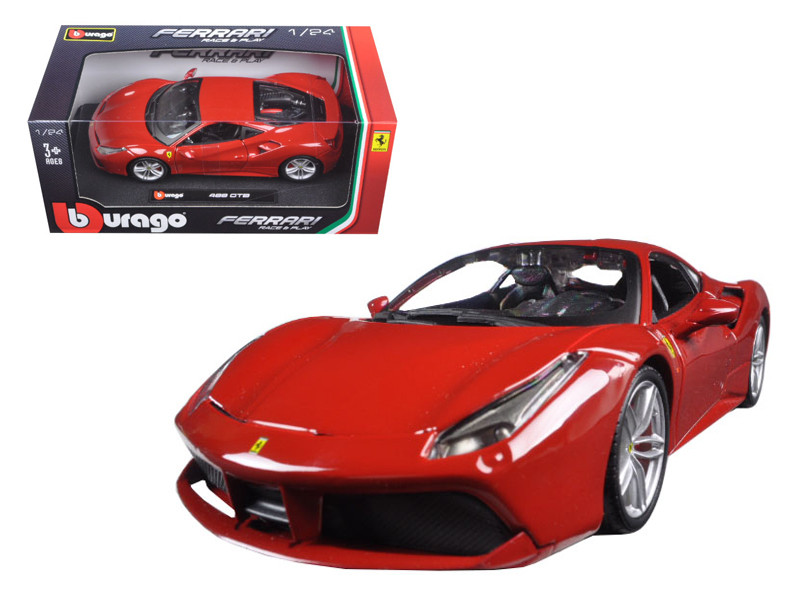 Ferrari 488 GTB Red 1/24 Diecast Model Car Bburago 26013