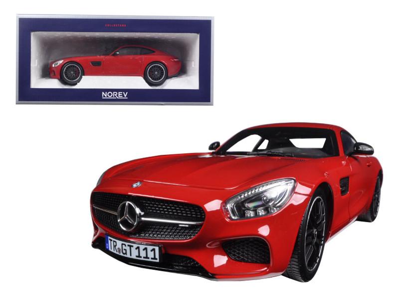 2015 Mercedes AMG GT Red 1/18 Diecast Model Car Norev 183496