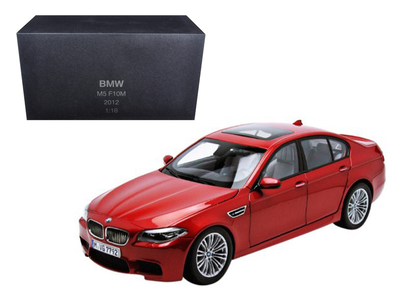 2012 BMW M5 (F10M) Sakhir Orange 1/18 Diecast Model Car Paragon Models 97013