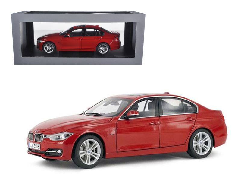 BMW F30 3 Series Melbourne Red 1/18 Diecast Car Model Paragon 97024