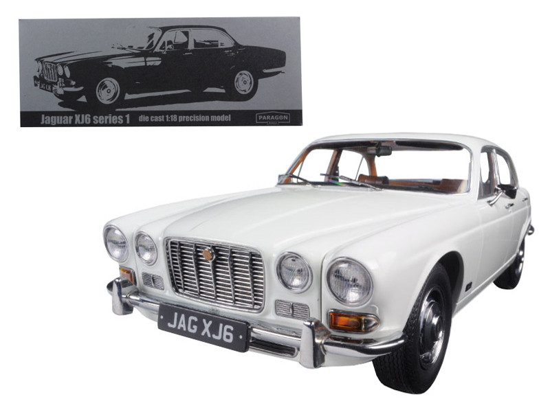 1971 Jaguar XJ6 Series 1 2.8 English White 1/18 Diecast Model Car Paragon 98301