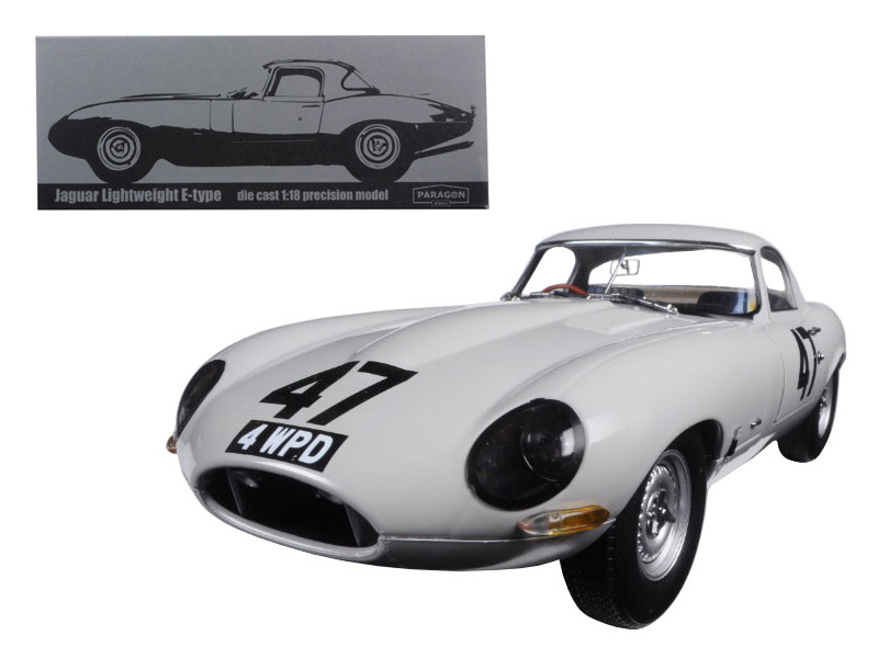 "1963 Jaguar Lightweight E-Type #47 ""Coombs 4 WPD"" 1/18 Diecast Model Car Paragon 98341"