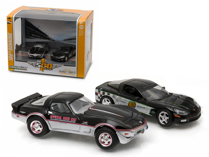 1978 & 2008 Chevrolet Corvette Indianapolis Indy 500 Pace Cars Set of 2 1/64 Diecast Model Cars Greenlight 29872
