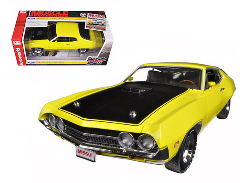 1970 Ford Torino Cobra 429 CJ Hemmings Bright Yellow Limited Edition 1254pc 1/18 Diecast Car Model Autoworld AMM1049