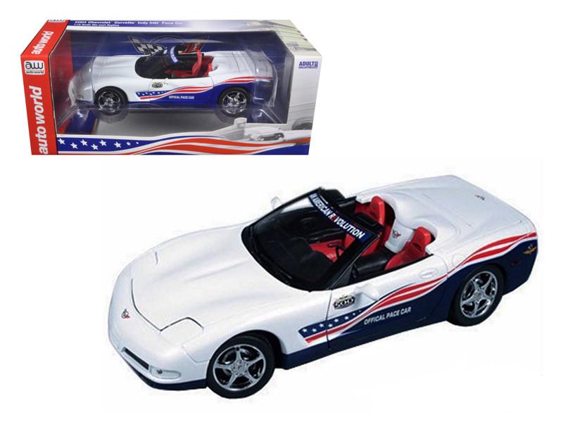 2004 Chevrolet Corvette Indy Pace Car 1/18 Diecast Model Car Autoworld AW204