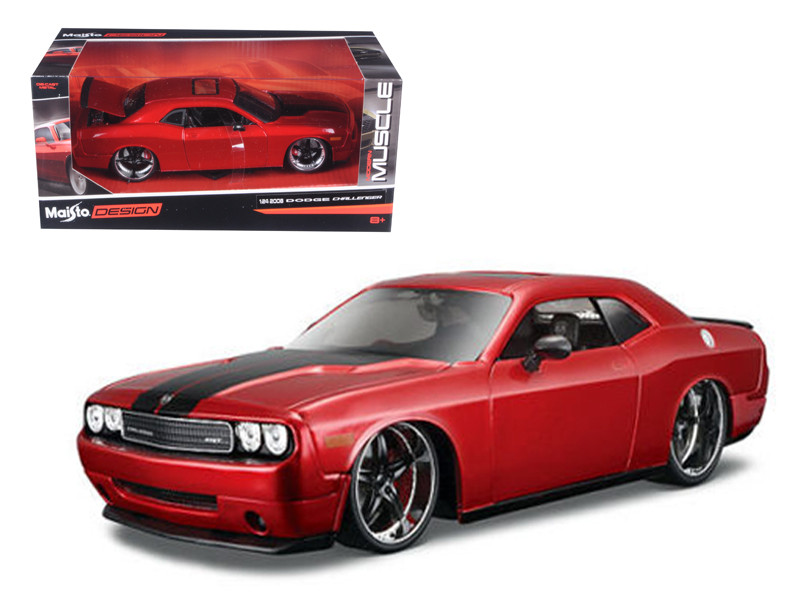 """2008 Dodge Challenger SRT8 Red """"Classic Muscle"""" 1/24 Diecast Model Car Maisto 31327"""