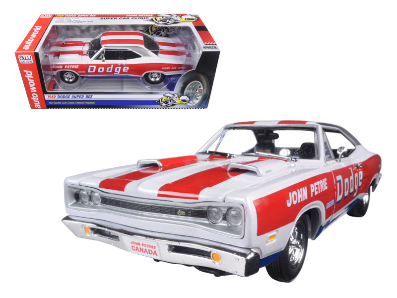 1969 Dodge Charger Super Bee SS/E John Petrie Limited Edition to 1002pcs 1/18 Diecast Model Car Autoworld AW222