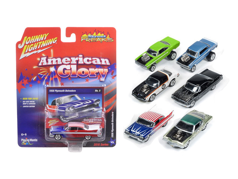 Street Freaks Release 1-A, Set of 6 cars 1/64 Diecast Model Cars by Johnny Lightning