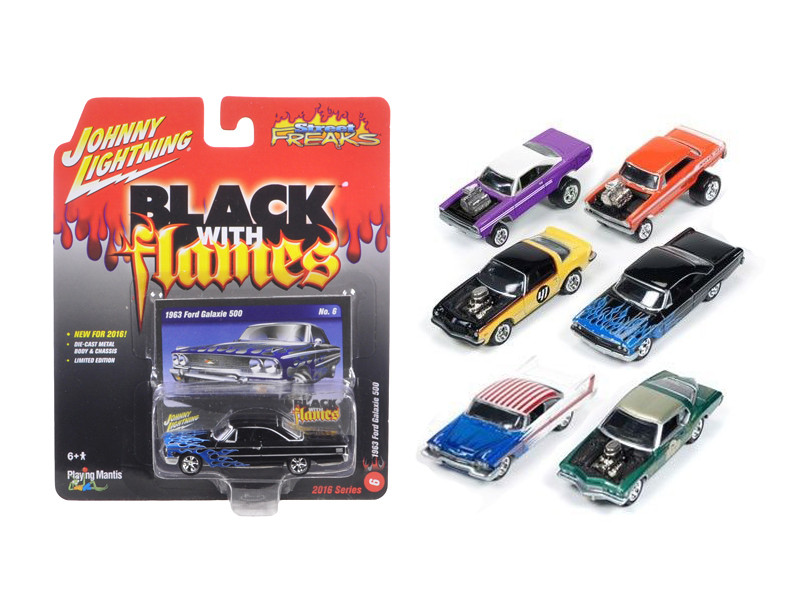 Street Freaks Release 1-B Set of 6 cars 1/64 Diecast Model Car by Johnny Lightning