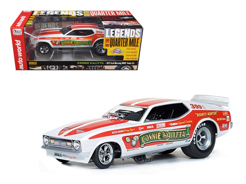 "1972 Ford Mustang Connie Kalitta ""Bounty Hunter"" NHRA Funny Car 1/18 Diecast Model Car Autoworld AW1111"