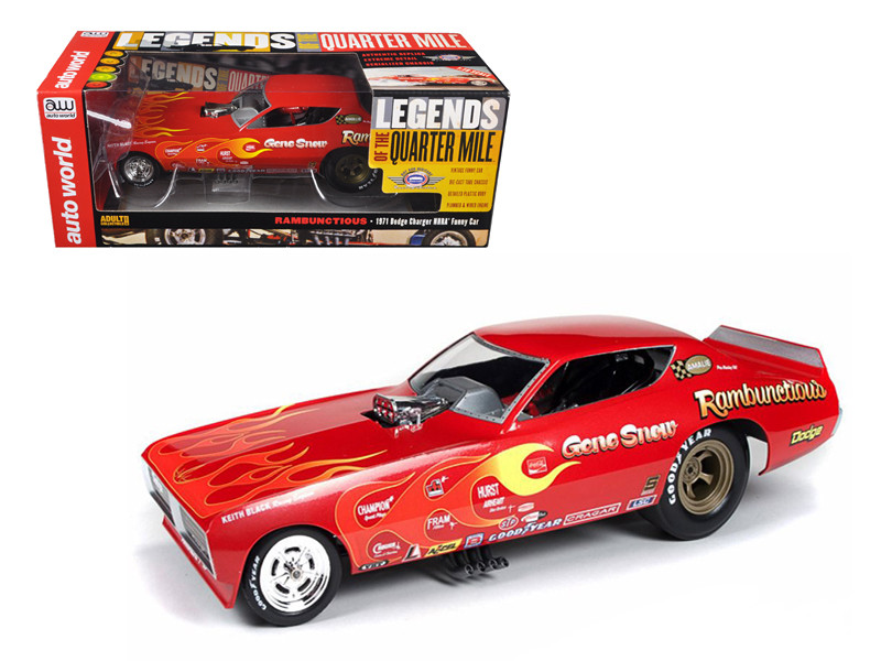 1971 Gene Snow Rambunctious Dodge Charger NHRA Funny Car Model 1/18 Model Car Autoworld AW1118