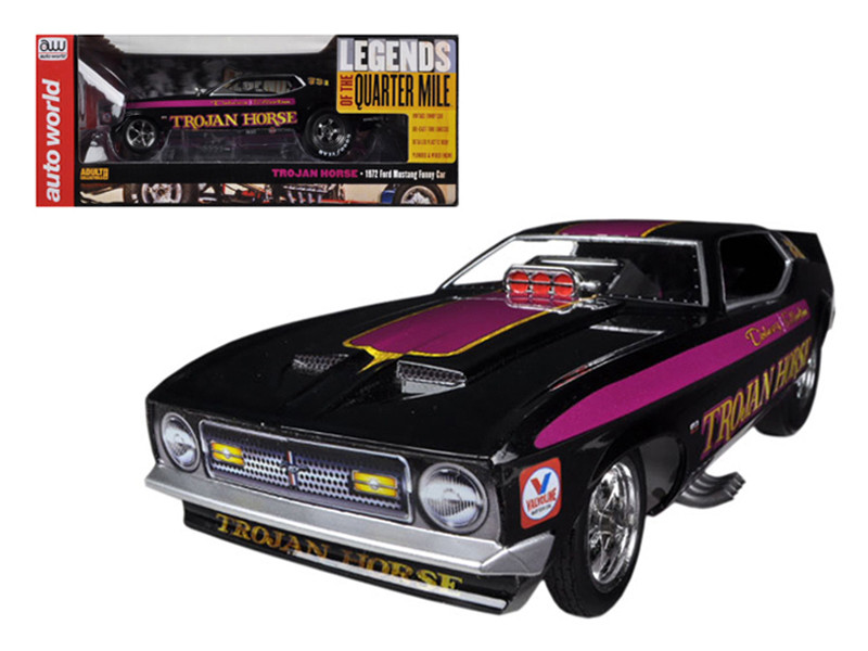 1972 Ford Mustang Trojan Horse NHRA Funny Car Model Limited to 1500pc 1/18 Model Car Autoworld AW1122