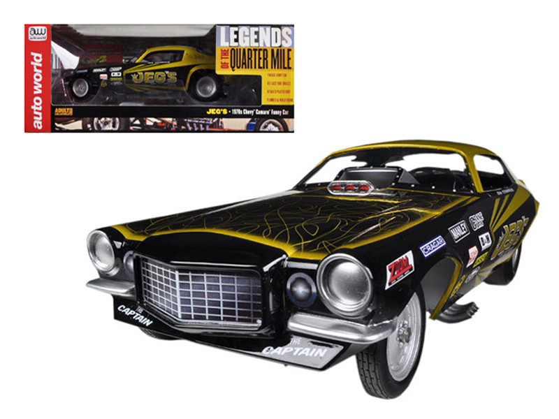 1970's Jeg Coughlin Chevrolet Camaro NHRA Funny Car Limited to 1500pc 1/18 Model Car Autoworld AW1160