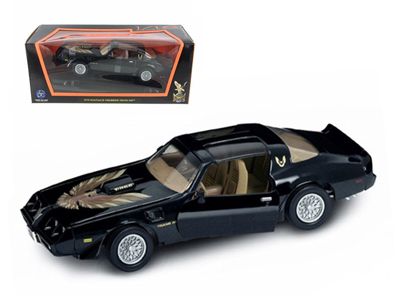 1979 Pontiac Firebird Trans Am Black 1/18 Diecast Model Car Road Signature 92378