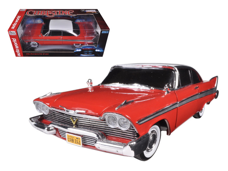 "1958 Plymouth Fury ""Christine"" Night Time Version 1/18 Diecast Model Car Autoworld AWSS102"