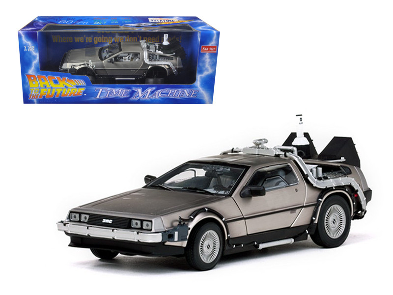 "Delorean Time Machine From ""Back To The Future II"" Movie 1/18 Diecast Model Car Sunstar 2710"