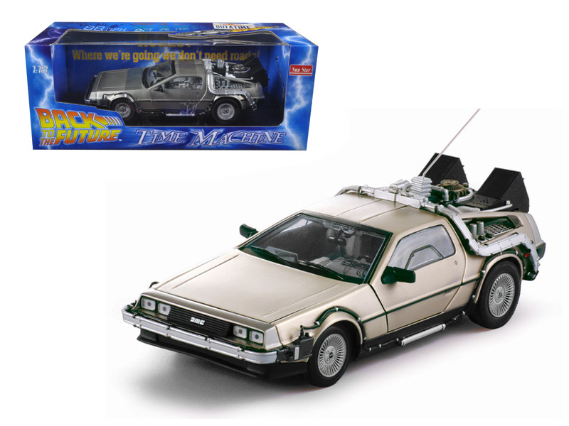 Delorean Time Machine Movie Back To The Future I 1/18 Diecast Model Car Sunstar 2711