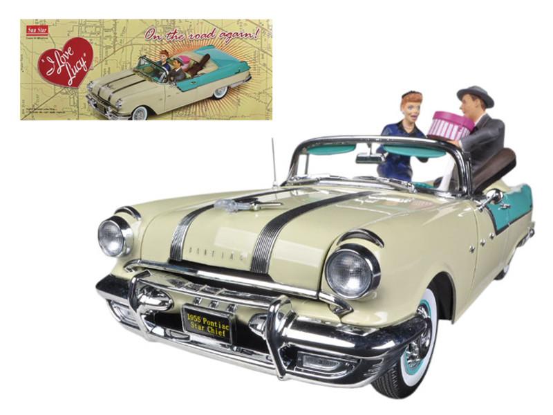 1955 Pontiac Star Chief I Love Lucy On The Road Again with figurine 1/18 Diecast Car Model Sunstar 5057