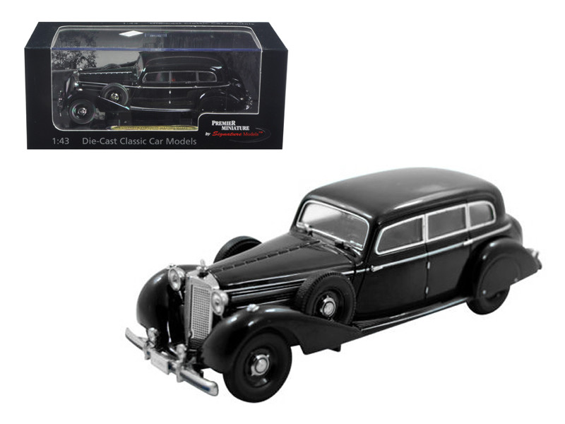 1938 Mercedes 770K Sedan Black 1/43 Diecast Car Model Signature Models 43701