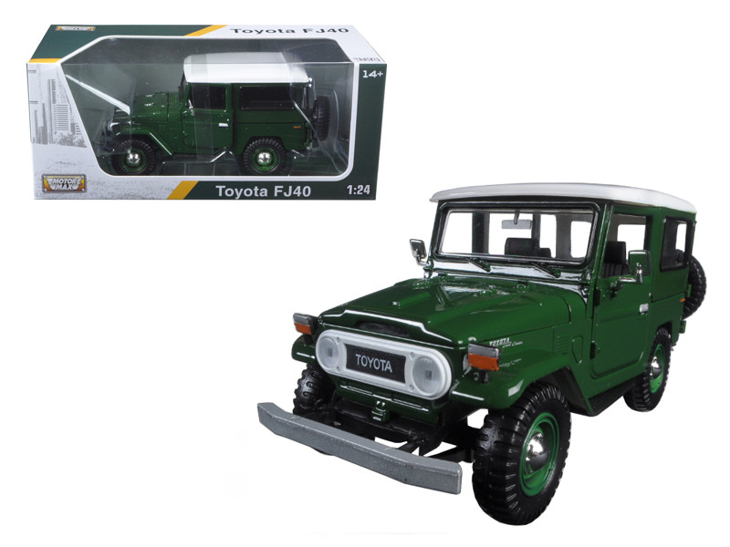 Toyota FJ40 Green 1/24 Diecast Model Car Motormax 79323