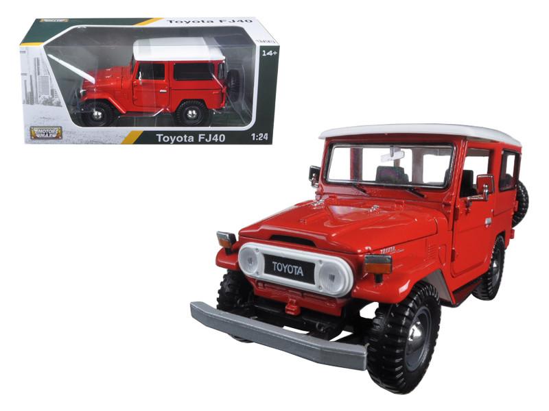 Toyota FJ40 Red 1/24 Diecast Model Car Motormax 79323