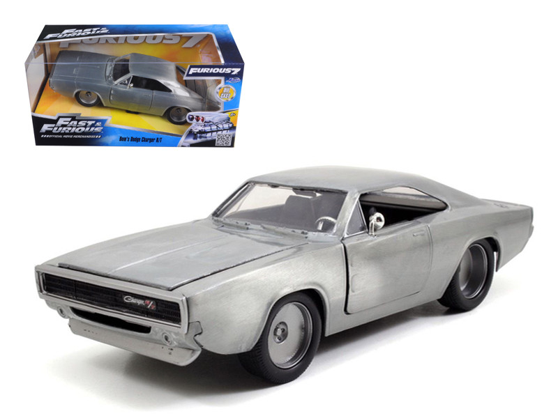 """Dom's 1970 Dodge Charger R/T Bare Metal """"Fast & Furious 7"""" Movie 1/24 Diecast Model Car Jada 97336"""
