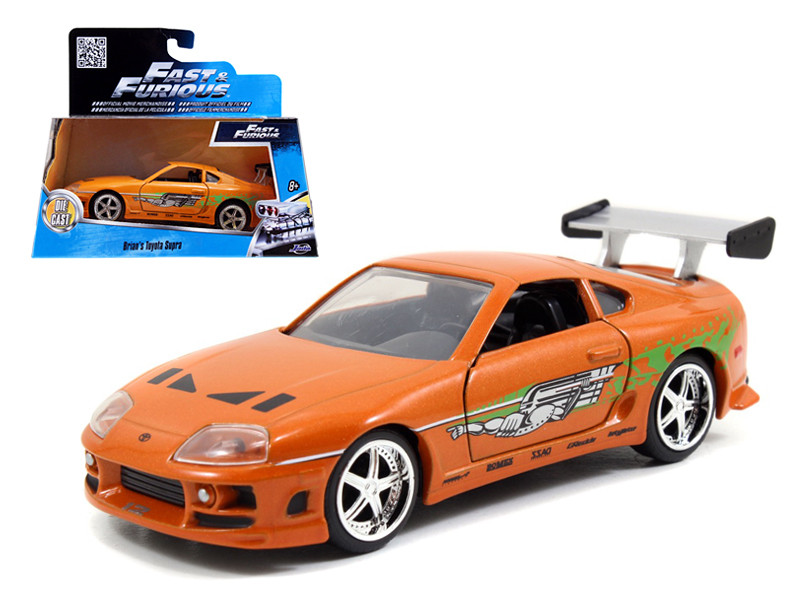 "Brian's Toyota Supra Orange ""Fast & Furious"" Movie 1/32 Diecast Model Car Jada 97345"