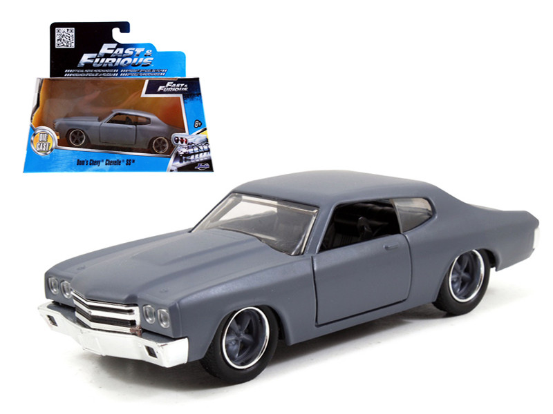 "Dom's Chevrolet Chevelle SS Primer Grey ""Fast & Furious"" Movie 1/32 Diecast Model Car Jada 97379"