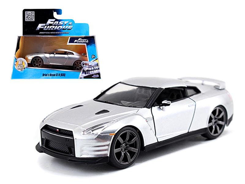 "Brian's Nissan GT-R R35 Silver ""Fast & Furious"" Movie 1/32 Diecast Model Car Jada 97383"