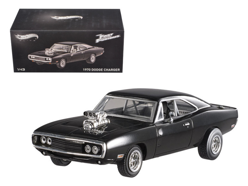 "1970 Dodge Charger Elite Edition ""The Fast & Furious"" Movie 2001 1/43 Diecast Car Model Hotwheels BLY27"