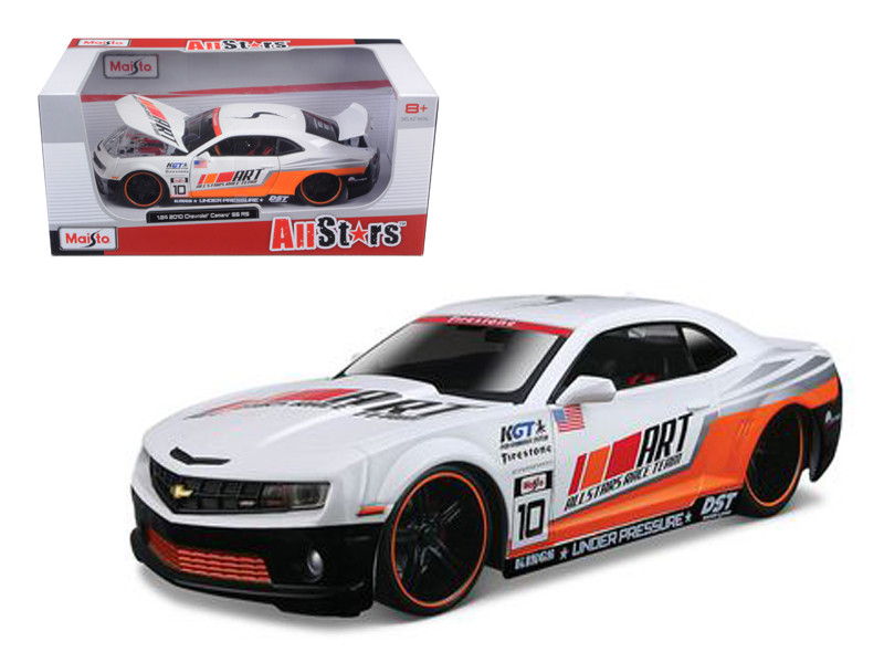 "2010 Chevrolet Camaro RS SS ""All Stars"" White 1/24 Diecast Model Car Maisto 31359"