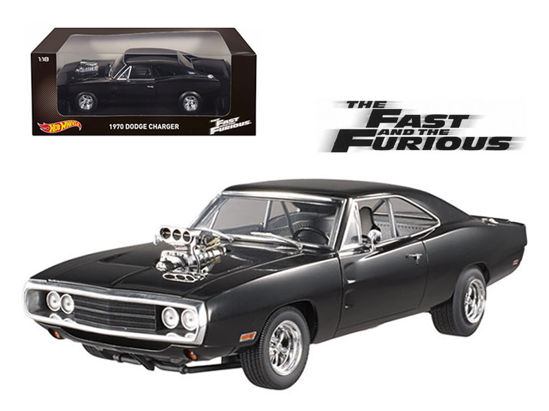1970 Dodge Charger Black The Fast & Furious Movie 2001 1/18 Diecast Model Car Hotwheels CMC97