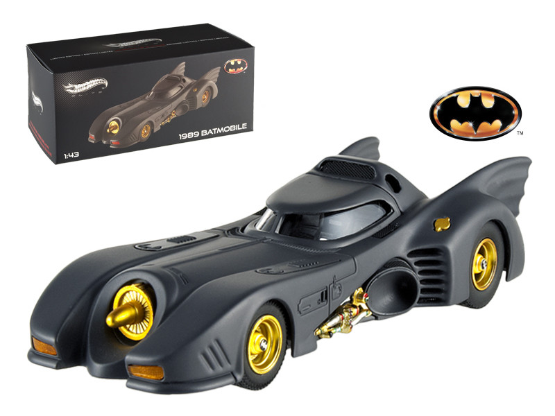 1989 Movie Batmobile Elite Edition 1/43 Diecast Model Car Hotwheels X5494
